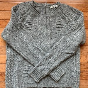Madewell cropped sweater with zipper back